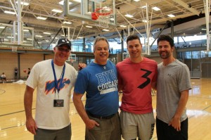 tj jimmer al blair at 2017 bball tourney